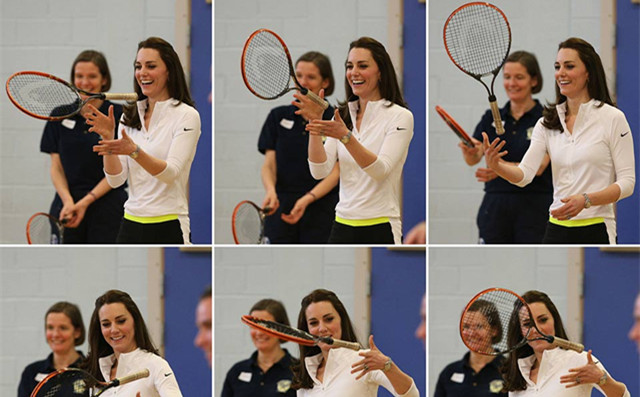 Princess Kate visited tennis school