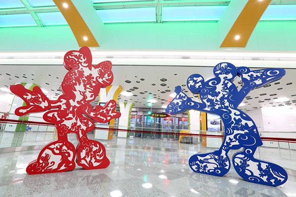 Photos: Shanghai Disney subway station goes into service (3)