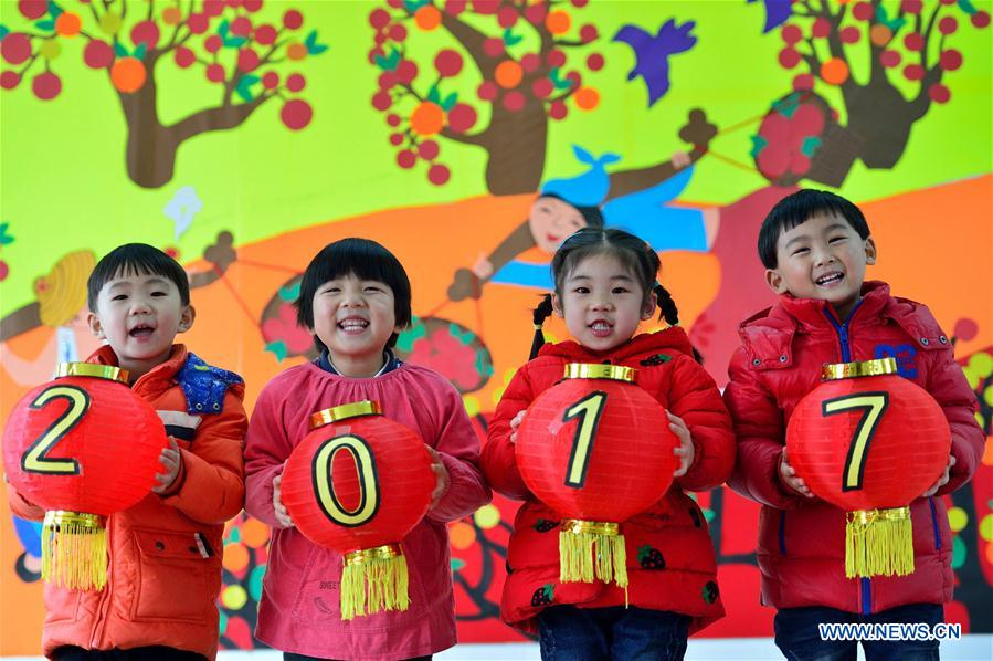 People greet upcoming new year across China