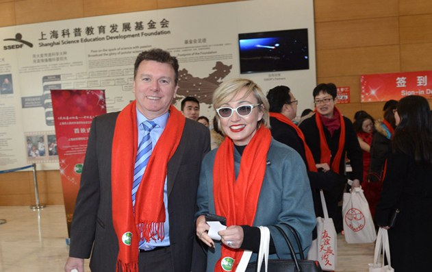 Photos: Chinese and foreigners gather for New Year party & documentary premiere