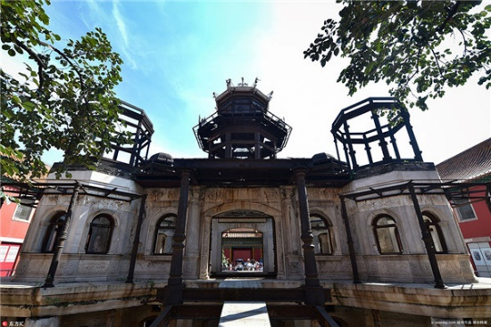 The real Yanxi Palace: an unfinished western style building
