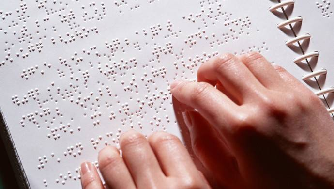 Electronic skin devised for the blind