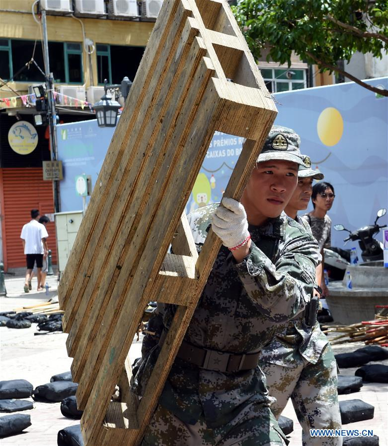 Troops from PLA Macao Garrison mobilized fo