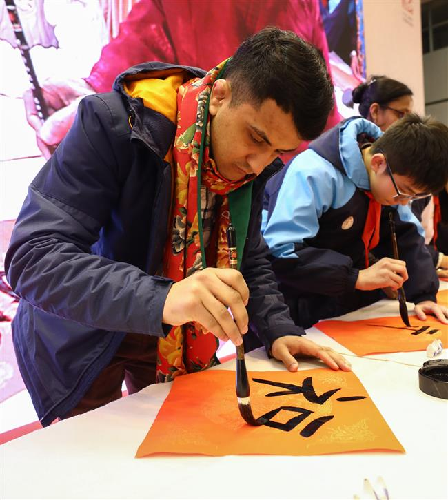 Grand calligraphyfestival in Shanghai